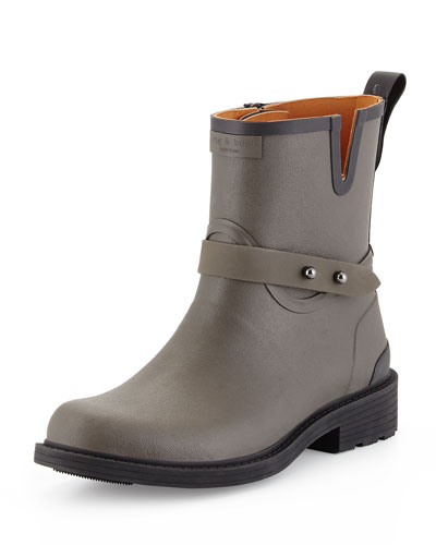 Rubber Ankle Moto Rainboot