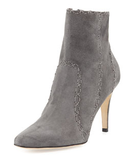 Rubio Cross-Stitched Suede Ankle Boot