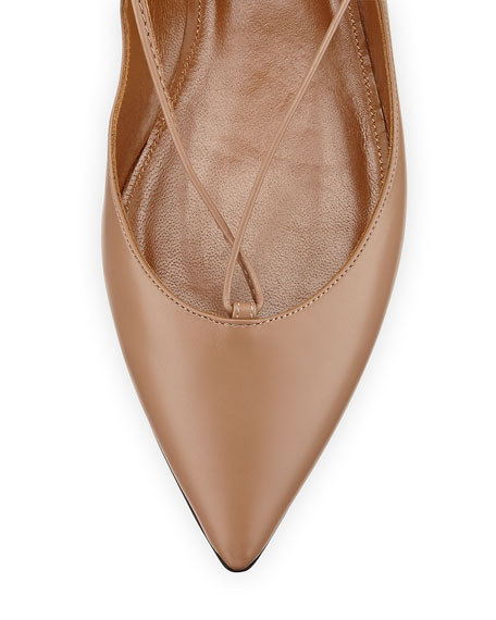 Christy Lace-Up Leather Flat