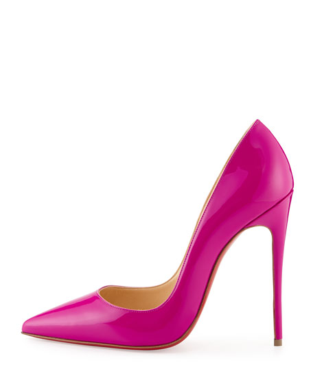 So Kate Patent Red Sole Pump, Indian Rose