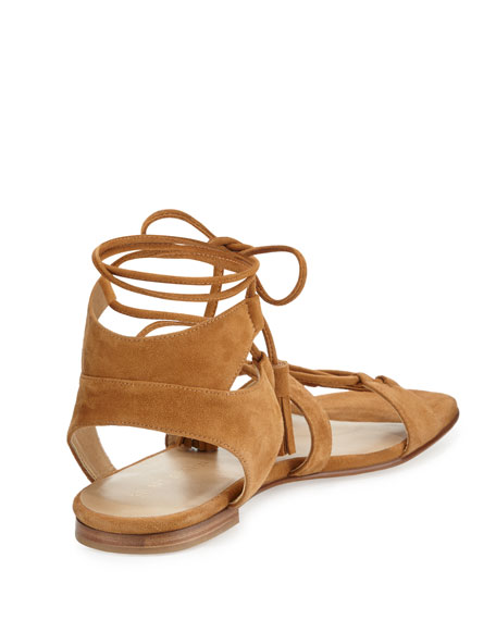 Romanflat Suede Gladiator Flat Sandals