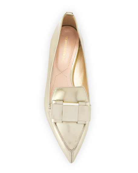 Beya Metallic Point-Toe Loafer