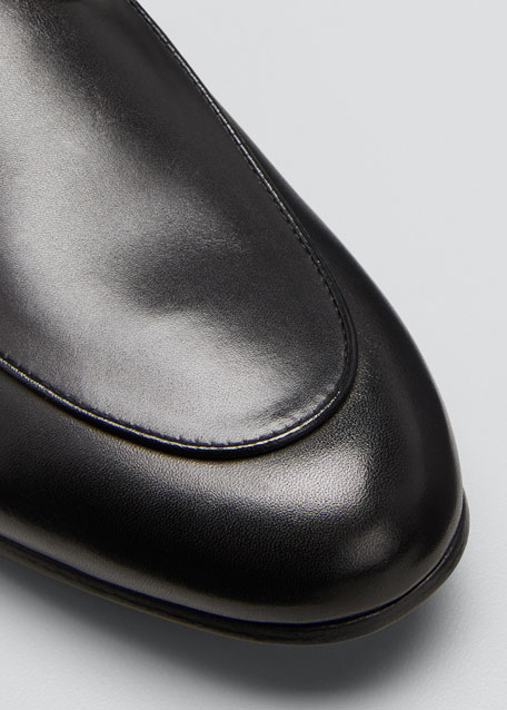 Princetown Fur-Lined Leather Mule