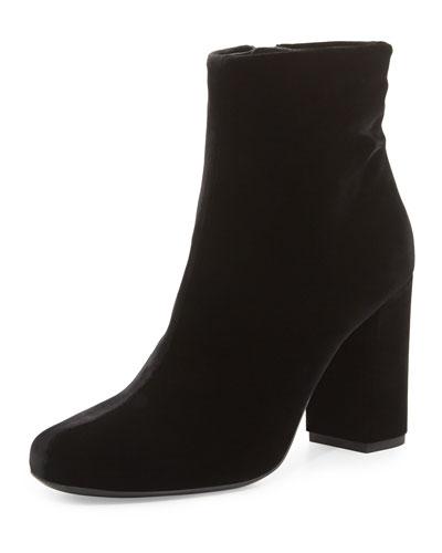 Velvet Babies 90mm Ankle Boot, Black (Noir)