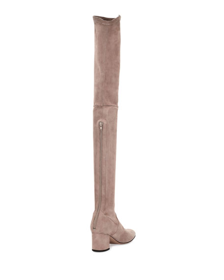 e18aa05aaec Valentino Stretch-Suede Over-the-Knee Boot