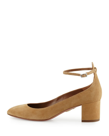 Alix Suede 50mm Block-Heel Pump