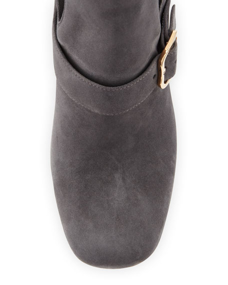 Gored Suede 85mm Ankle Boot