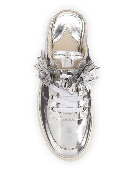 Lilico Jessie Metallic Sneaker Mule, Silver
