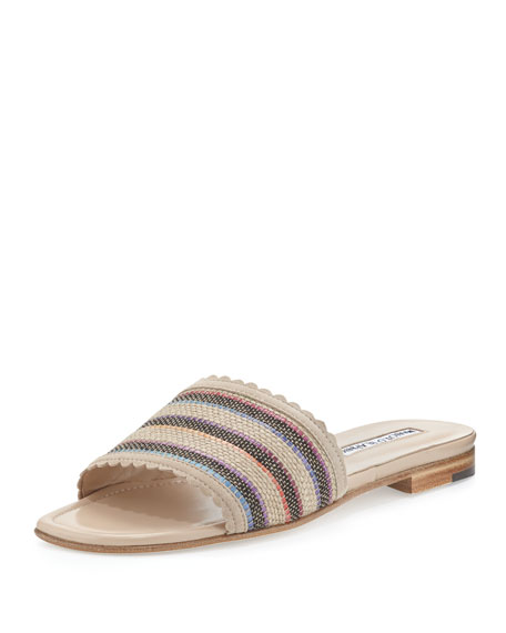 cheap price wholesale discount big sale Manolo Blahnik Woven Raffia Sandals clearance online amazon real for sale view cheap price ndBvj