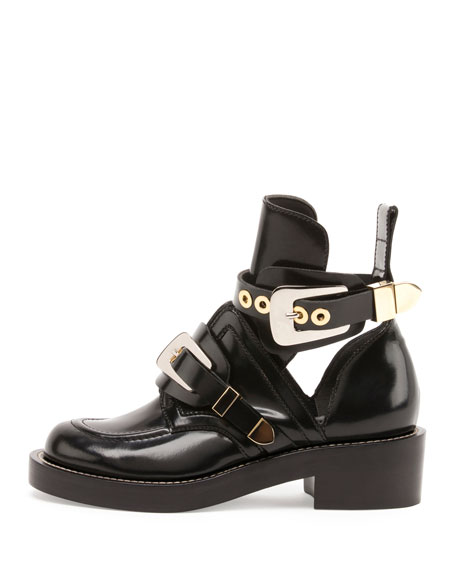 Buckle Leather 35mm Bootie