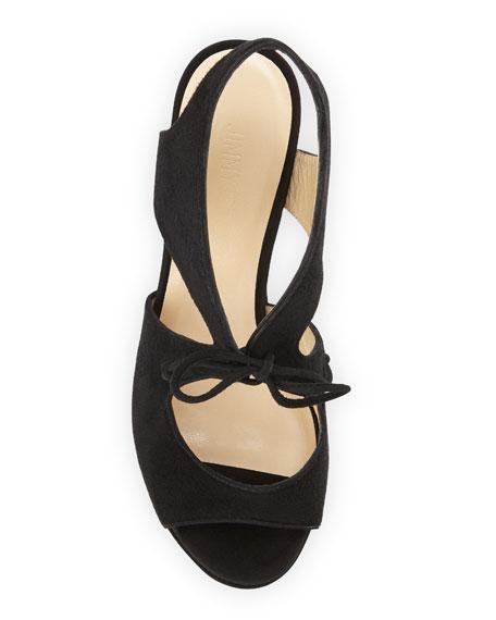 Nayeem Tie-Front Wedge Sandal