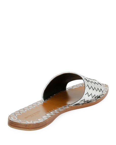 Intrecciato Napa Flat Slide Sandal