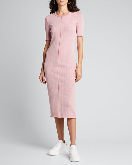 Elina Ribbed Bodycon Dress