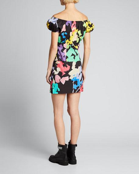 Calla Printed Off-Shoulder Mini Dress