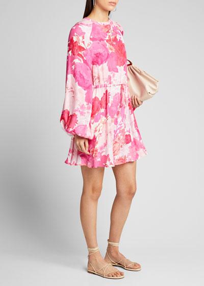 Coco Floral Tie-Waist Short Dress