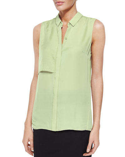 Shelby Sleeveless Silk Blouse