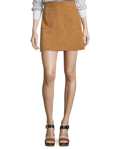 Le High A-Line Skirt  Tobacco
