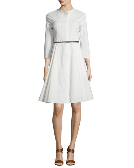 Kalsingas Belted Light Poplin Shirtdress
