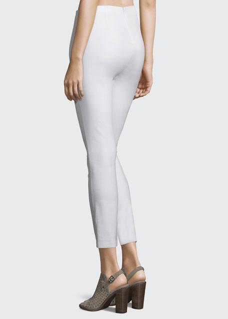 Simone Cropped Skinny Pants, White