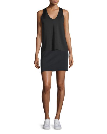 Scuba Mini Skirt, Black