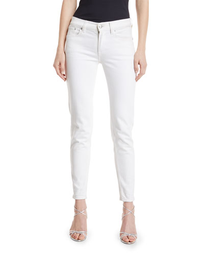 400 Matchstick Ankle Jeans White