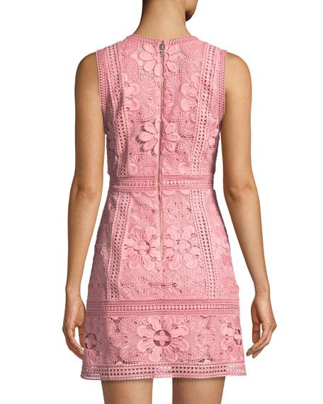 a9f7ffc56d8a Alice + Olivia Zula Sleeveless V-Neck Lace Mini Party Dress