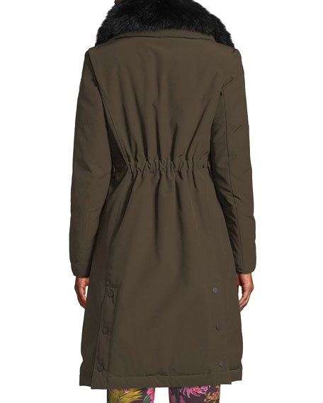 Jaseur Parka Coat w/ Removable Fur Collar