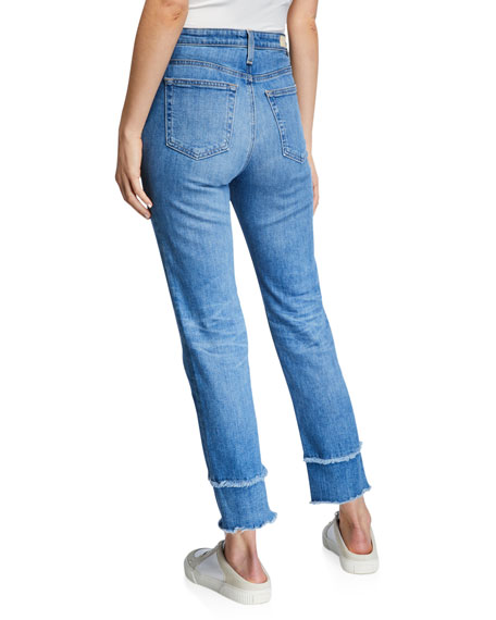 The Isabelle High-Rise Straight Crop Jeans with Tiered Hem
