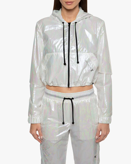 Portal Spheric Cropped Hooded Jacket