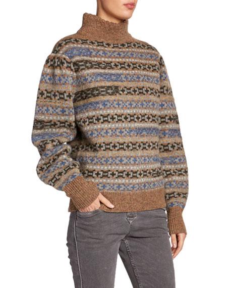 Ned Wool Fair Isle Turtleneck Sweater