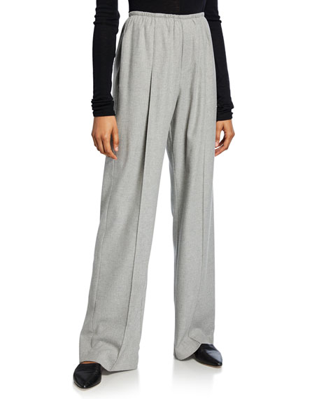 Image 1 of 1: Flannel Wide-Leg Pants