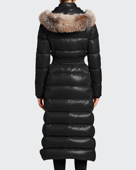Hudson Long Puffer Coat w/ Fur Hood