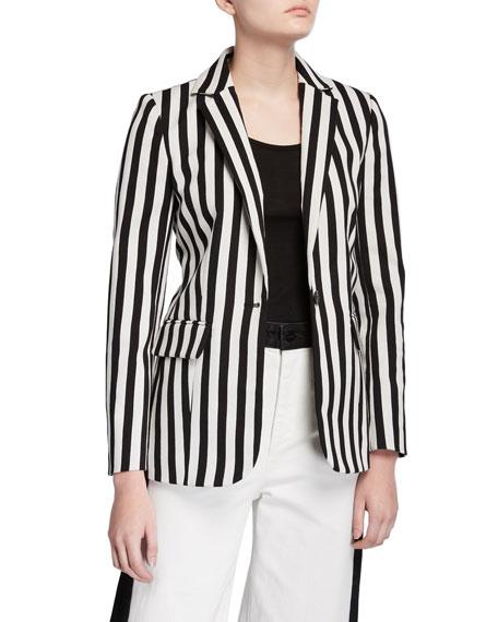 Classic Striped Blazer