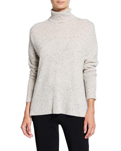 Layla Speckled Cashmere Turtleneck Sweater