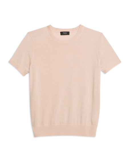 Basic Regal Wool Short-Sleeve Tee