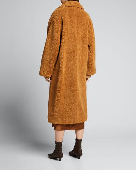 Maria Teddy Faux-Fur Long Coat
