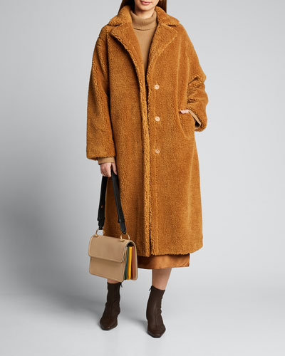Maria Teddy Faux-Fur Long Coat