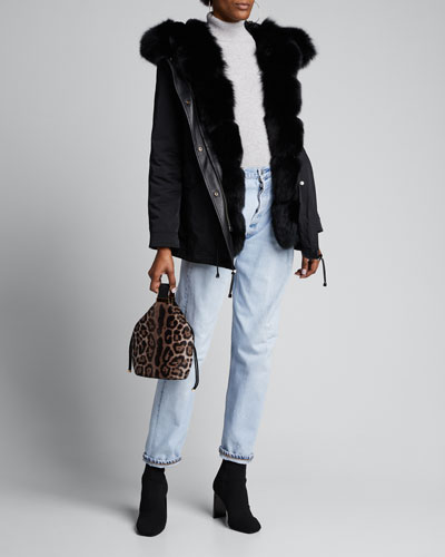 Ludlow Fox Fur Reversible Coat