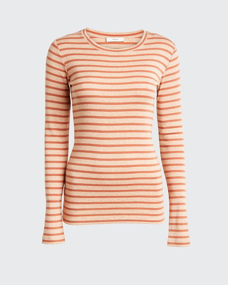 Feeder Stripe Long-Sleeve Crewneck Tee