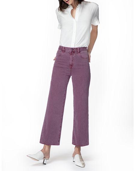 Joan High-Rise Crop Wide-Leg Jeans