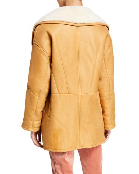 Cocoon Shearling Coat