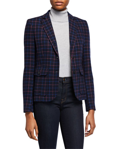 NANCIE CHECK BLAZER