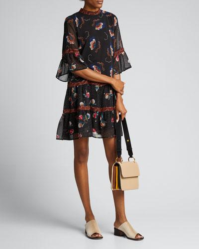 Glastonbury Jellyfish Print Silk Dress