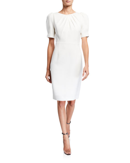 Image 1 of 1: Delphine Short-Sleeve Sheath Dress