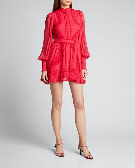 Olinka Long-Sleeve Ruffle Dress