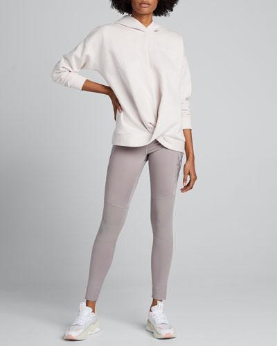 Recovery Fleece Wrap-Front Hoodie Sweatshirt