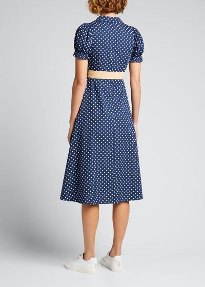 Bella Polka Dot Button-Front Mini Dress