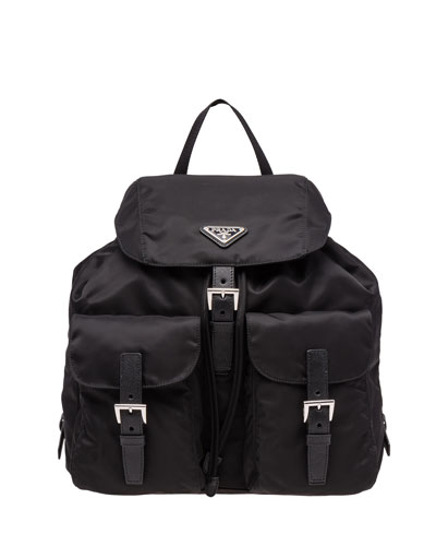 Vela Large Two-Pocket Backpack  Black (Nero)