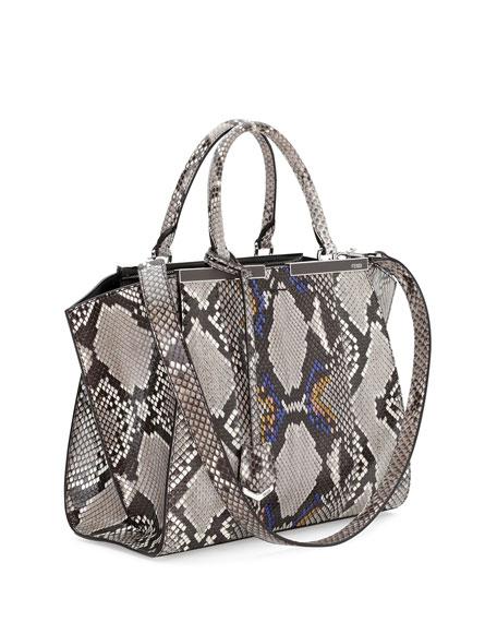 1e278c937bfa Fendi Trois-Jour Mini Python Shopping Tote Bag
