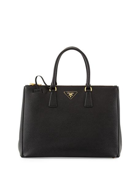 Saffiano Medium Executive Tote Bag, Black (Nero)